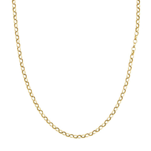 "Second Hand 9ct Gold 21"" Belcher Chain Necklace"