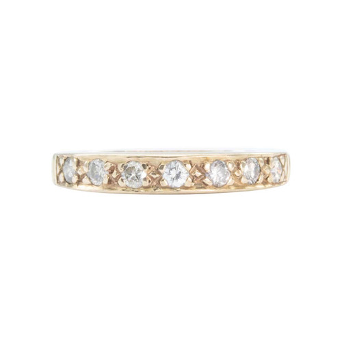 Second Hand 9ct Gold 7 Stone Diamond Half Eternity Ring