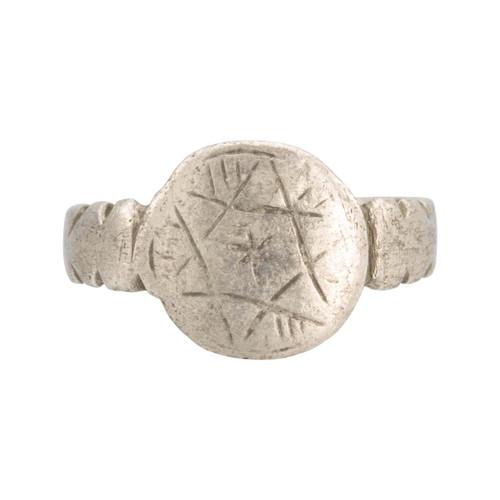 Medieval Silver Hexagram Ring