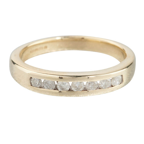 Second Hand 9ct Gold Channel Set Diamond Half Eternity Ring