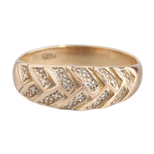 Second Hand 9ct Gold Textured Band Ring