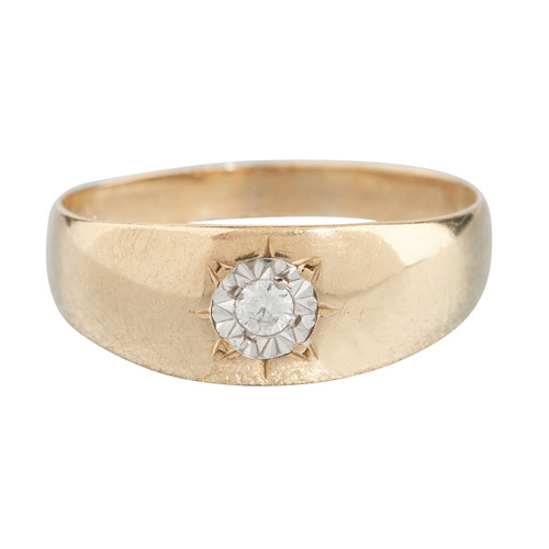 Second Hand 9ct Gold Diamond Gypsy Ring