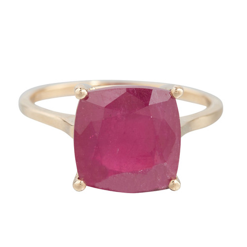Second Hand 9ct Gold Ruby Solitaire Ring