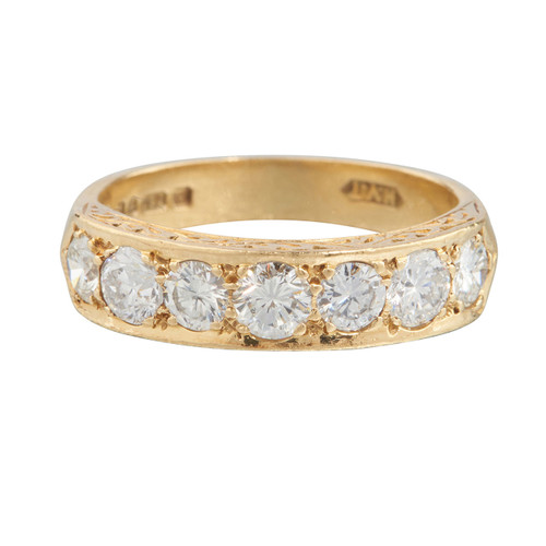 Second Hand 18ct Gold 7 Stone Diamond Ring