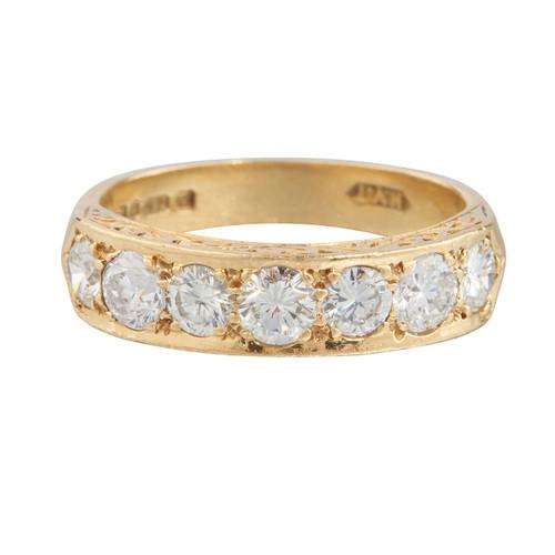 Second Hand 18ct Gold 7 Stone Diamond Ring