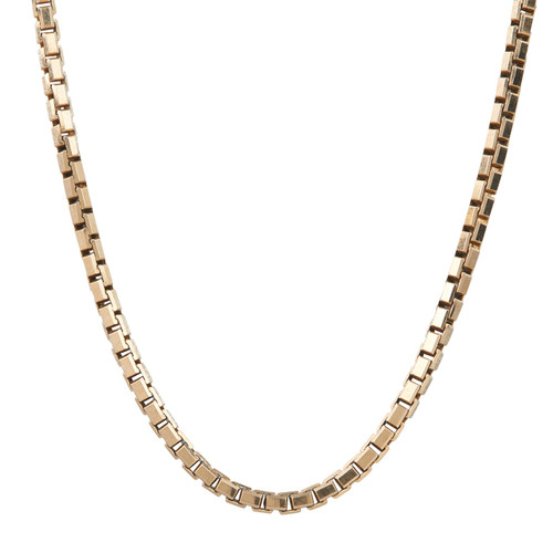 "Second Hand 9ct Gold 16"" Box Chain Necklace"