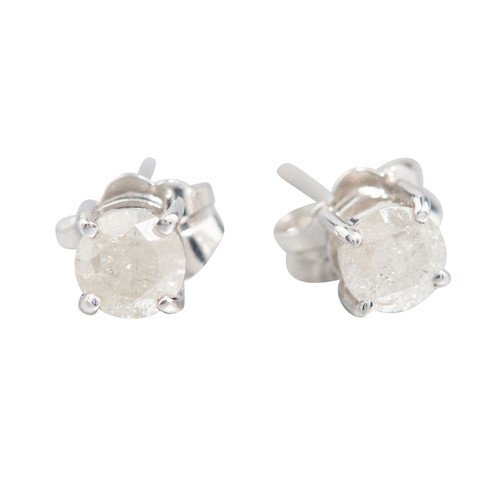 Second Hand 9ct White Gold 0.45 Carat Diamond Stud Earrings