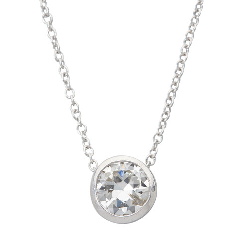 Second Hand 18ct Gold 0.75 Carat Diamond Floating Pendant