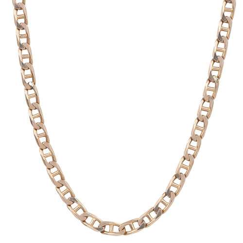 "Second Hand 9ct Rose Tinged Gold 21"" Anchor Link Chain Necklace"