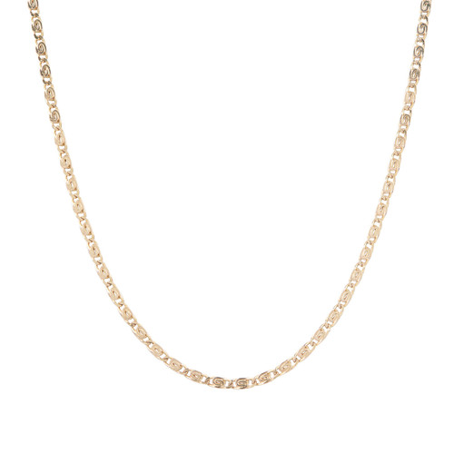"""Second Hand 9ct Gold 18"""" Partridge Eye Link Chain Necklace"""