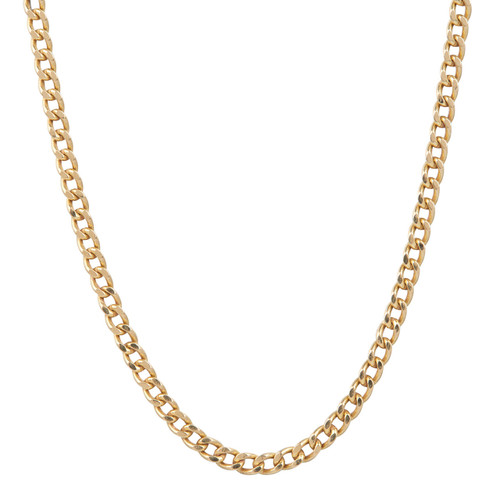 "Second Hand 18ct Gold 16"" Curb Chain Necklace"