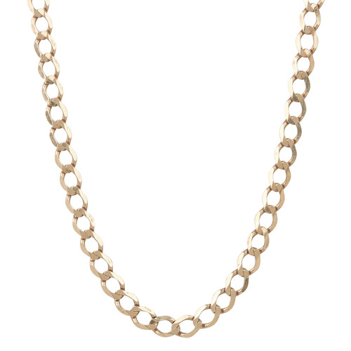 "Second Hand 9ct Gold 19"" Flat Curb Chain"
