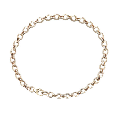 "Second Hand 9ct Gold 7 ½"" Cable Link Bracelet"