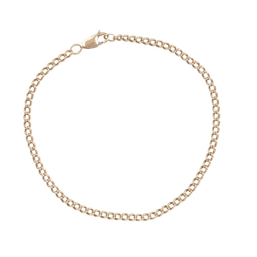"""Second Hand 9ct Gold 10"""" Curb Link Anklet"""