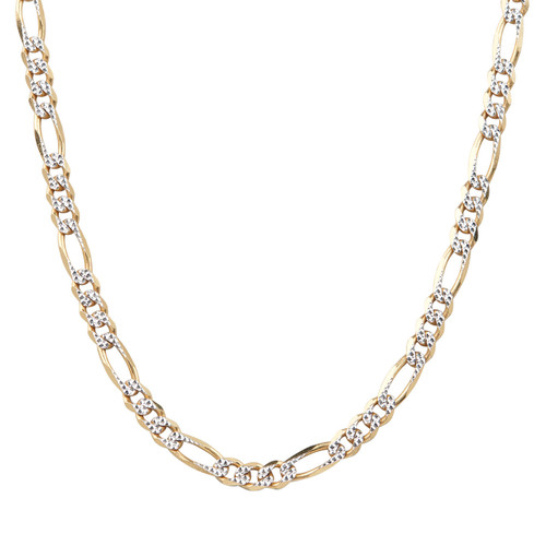 "Second Hand 9ct Gold 24"" Diamond Cut Figaro Chain Necklace"