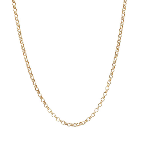 "Second Hand 18ct Gold 18"" Belcher Chain Necklace"