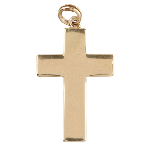 Second Hand 14ct Gold Plain Cross Pendant