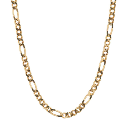 """Second Hand 27"""" 18ct Gold Figaro Chain Necklace"""