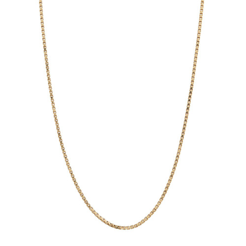 "Second Hand 18ct Gold 19.5"" Box Chain Necklace"