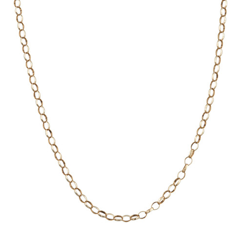 "Second Hand 9ct Gold 22"" Belcher Chain Necklace"
