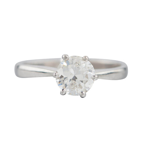 18ct White Gold 1.12 Carat Diamond Solitaire Engagement Ring