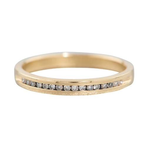 Second Hand 18ct Gold Diamond Slim Half Eternity Ring