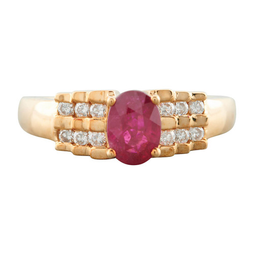 Second Hand 18ct Gold Ruby and Diamond Dress Ring