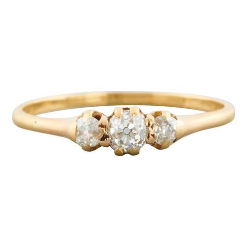 Antique 18ct Gold 3 Stone 0.50 carat Diamond Ring