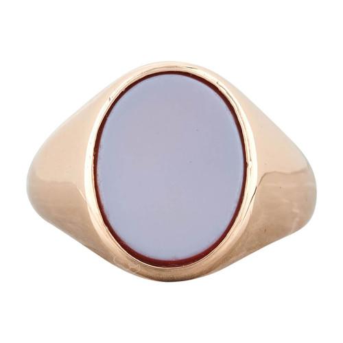 Vintage 9ct Gold Oval Sardonyx Signet Ring - 1965