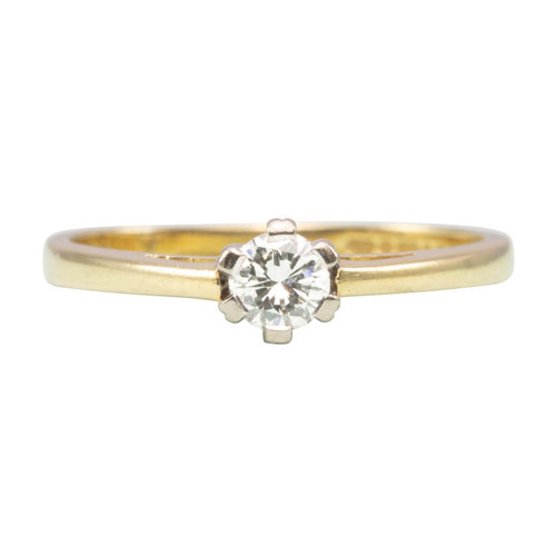 Second Hand 18ct Gold 0.25 Carat Diamond Solitaire Engagement Ring