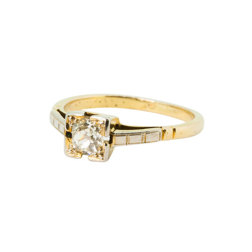 Vintage 18ct Gold 0.35 Carat Diamond Solitaire Engagement Ring