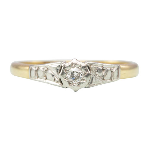 Vintage 18ct Gold Solitaire Diamond Engagement Ring