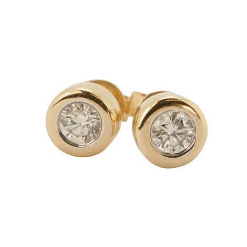 Pre Owned 14ct Gold 0.40 Carat Diamond Earrings