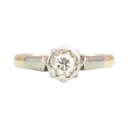 Vintage 18ct Gold 0.40 carat Solitaire Diamond Engagement Ring