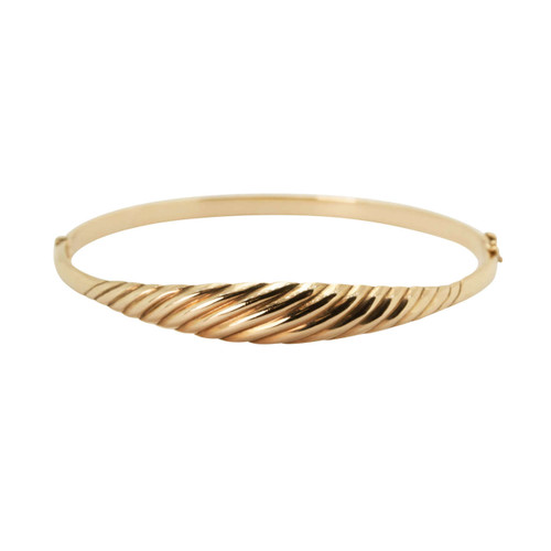 Second Hand 9ct Gold Curve Design Bangle