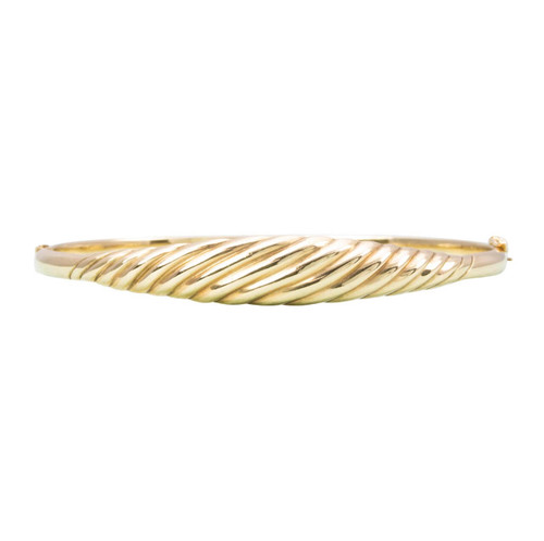 Second Hand 9ct Gold Tapered Curve Design Bangle