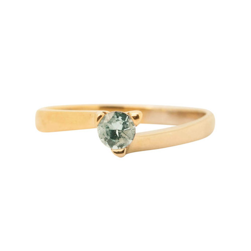 Second Hand 18ct Gold Blue Topaz Solitaire Ring