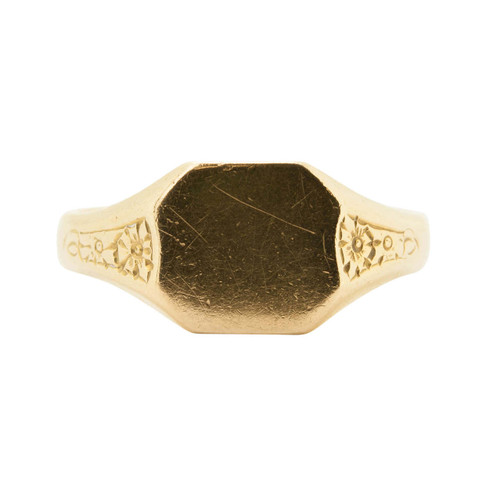 Vintage 18ct Gold Signet Ring
