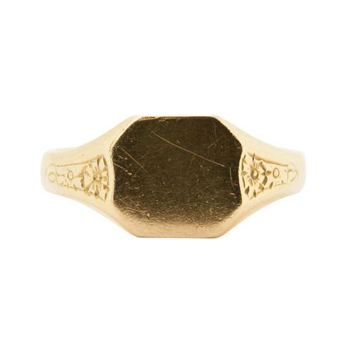 Vintage 18ct Gold Signet Ring