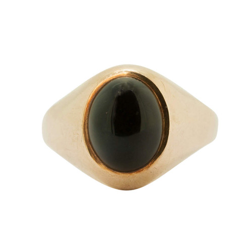 Second Hand 9ct Gold Onyx Oval Signet Ring