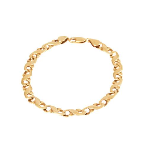 Pre Owned 9ct Gold Fancy Link Bracelet