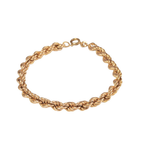 Second Hand 9ct Gold Rope Bracelet