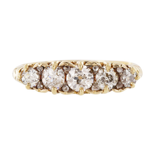Vintage 18ct Gold Five Stone 1.2 Carat Diamond Ring