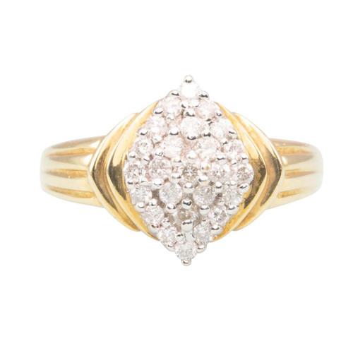 Second Hand 18ct Gold Diamond Fancy Cluster Ring