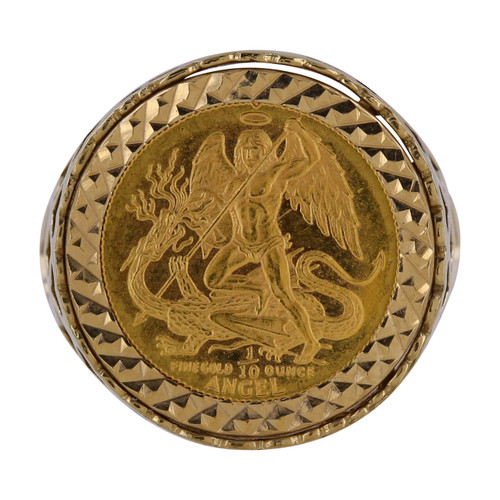 Second Hand 9ct Gold George & Dragon Signet Ring