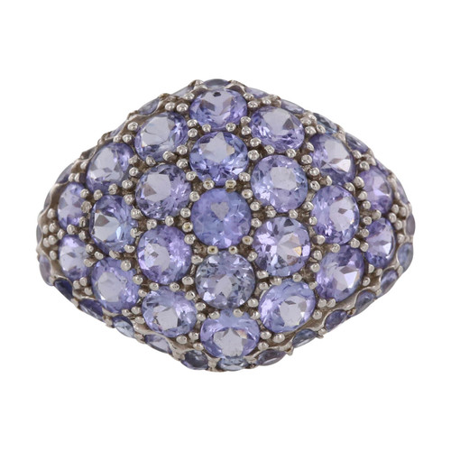 Second Hand 9ct Gold Iolite Cluster Ring