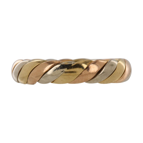 Second Hand 18ct Gold 3 Colour Wedding Ring Band