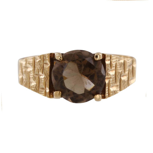 Vintage 9ct Gold Smoky Quartz Ring