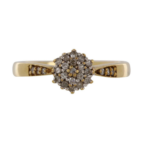 Second Hand 9ct Gold Diamond Cluster Ring