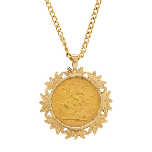 Second Hand 1964 Sovereign Pendant and Chain